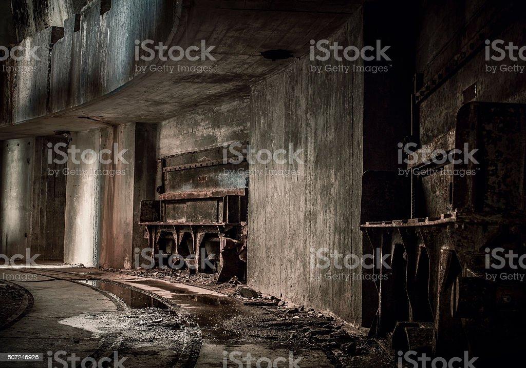 Spooky hallway stock photo