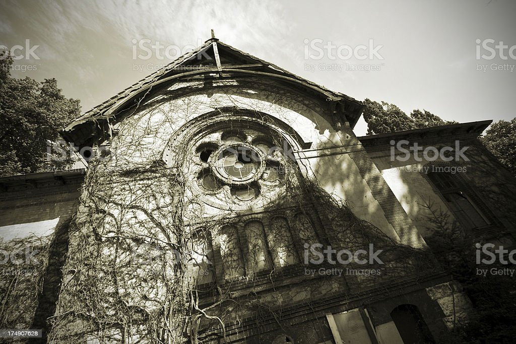 Spooky house royalty-free stock photo