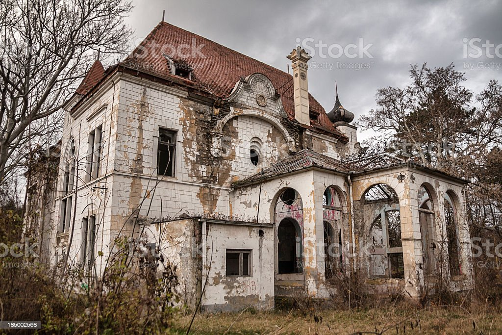 Spooky Mansion stock photo