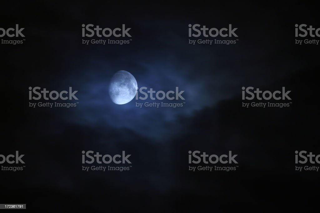 Spooky moon royalty-free stock photo