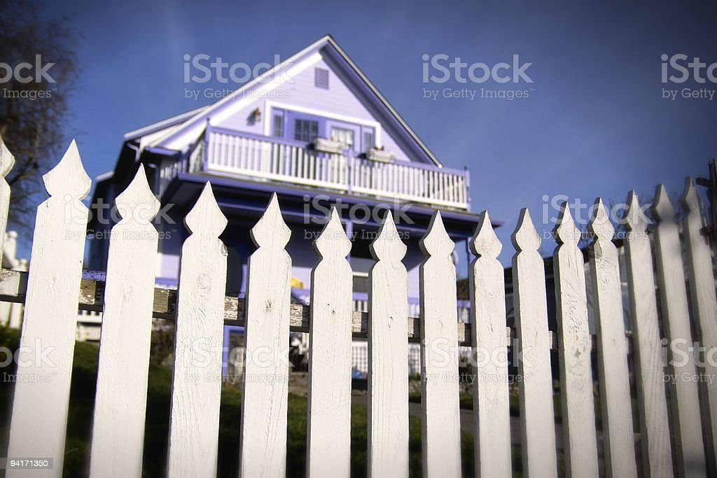 Spooky Purple House royalty-free stock photo