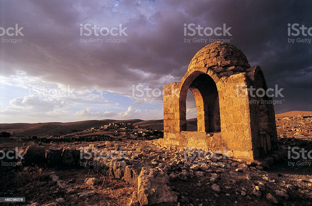 Spooky Tomb stock photo