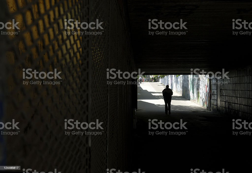 Spooky Tunnel Run royalty-free stock photo