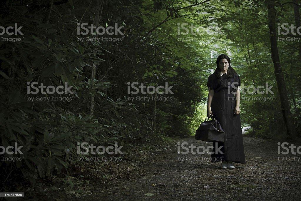 spooky woman stock photo