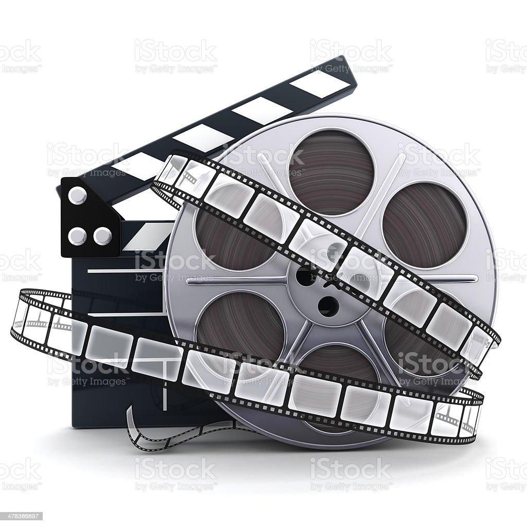 Spool and film stock photo