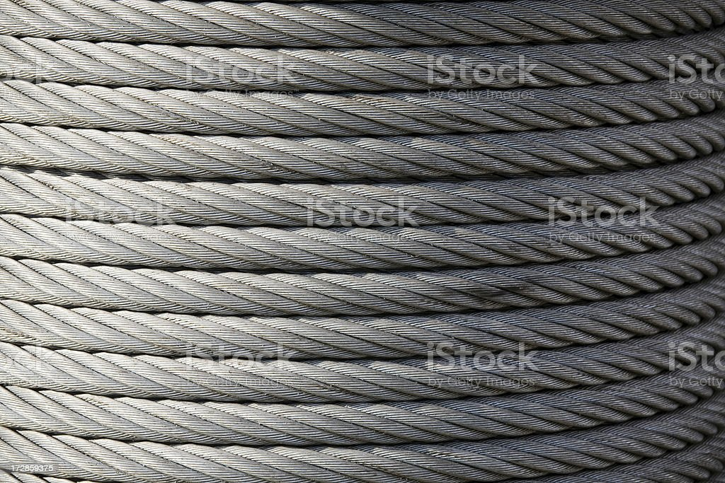 Spool of large industrial rope or wire royalty-free stock photo
