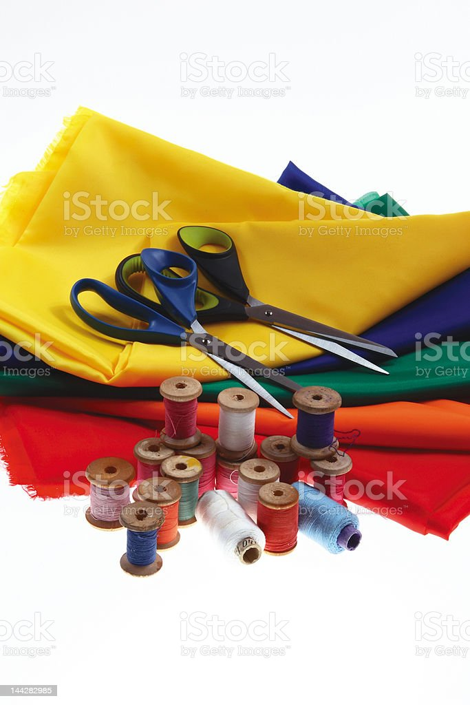 Spool of thread and scissors (5). royalty-free stock photo