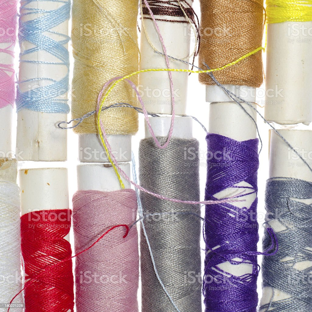 spool of thread isolated royalty-free stock photo