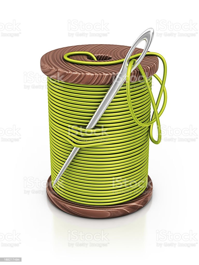 spool of thread stock photo
