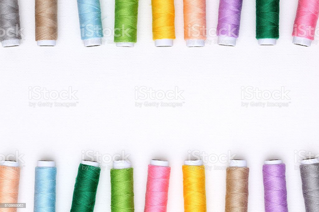 Spool of threads stock photo