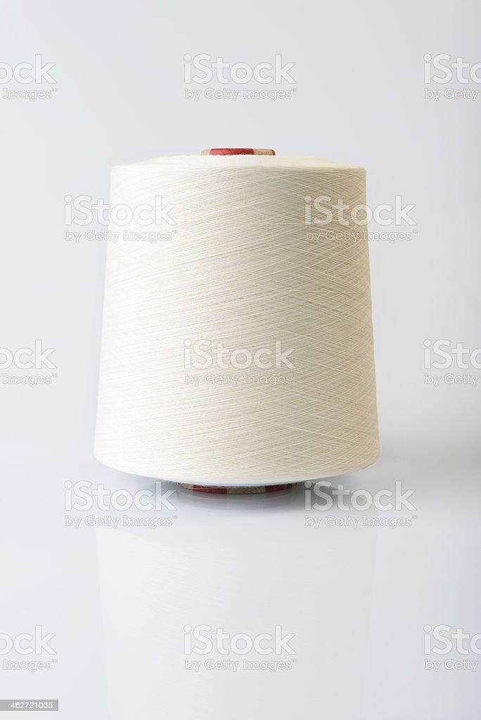 Spool of yarn stock photo