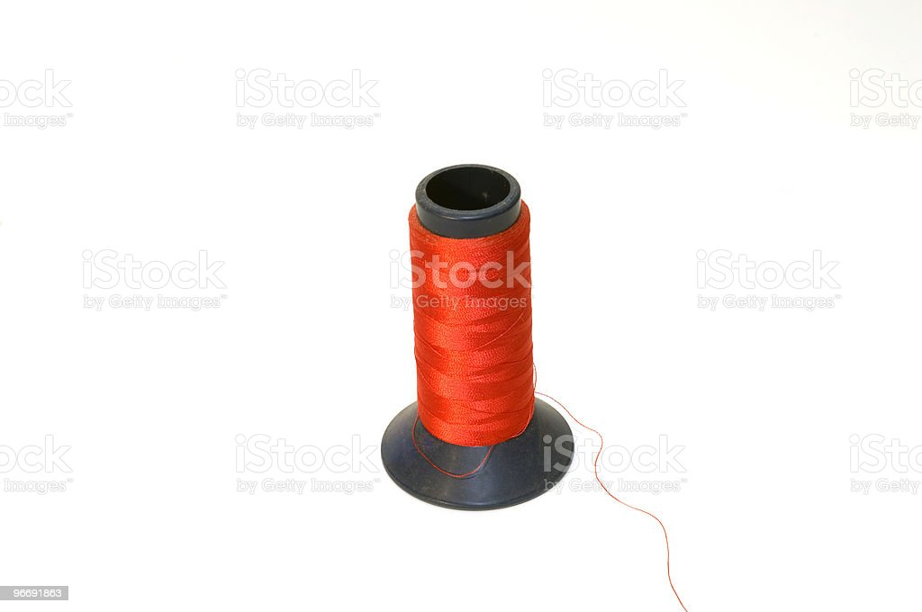 Spool Red Thread royalty-free stock photo