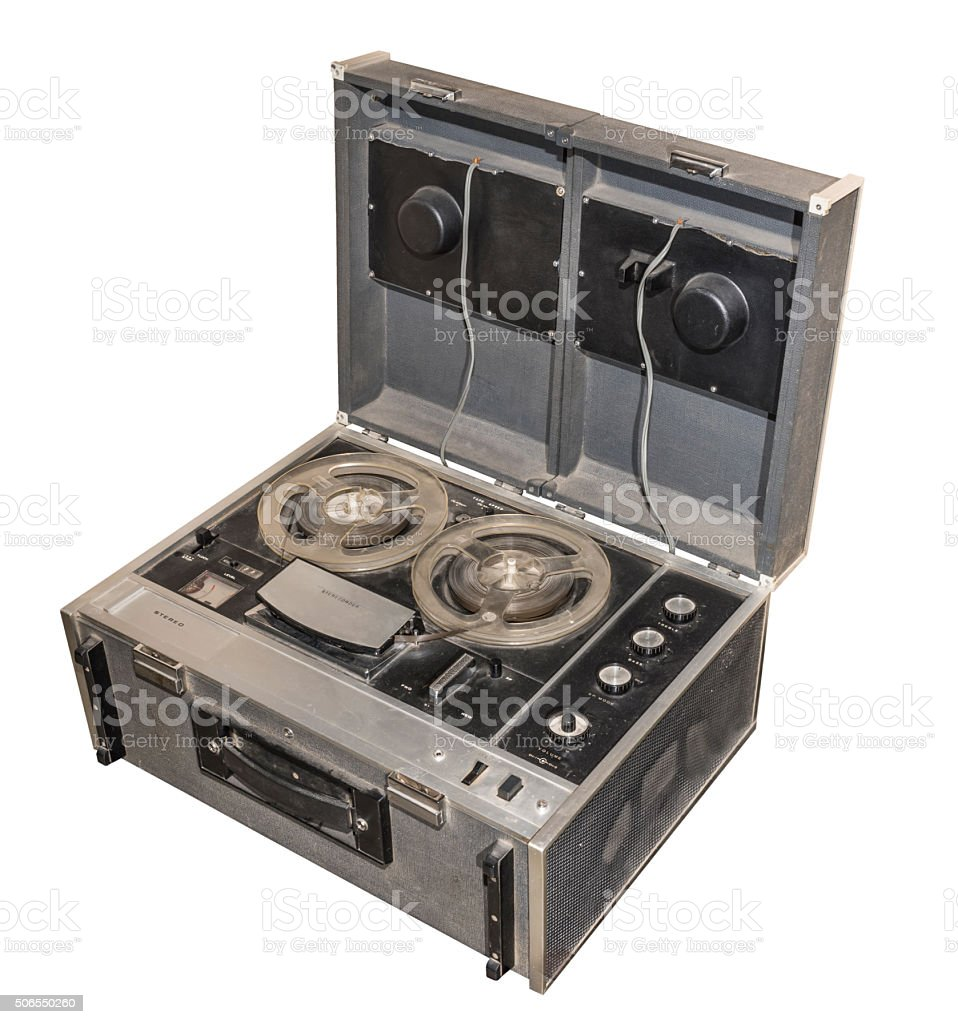 Spool stereo tape recorder, 1967 stock photo