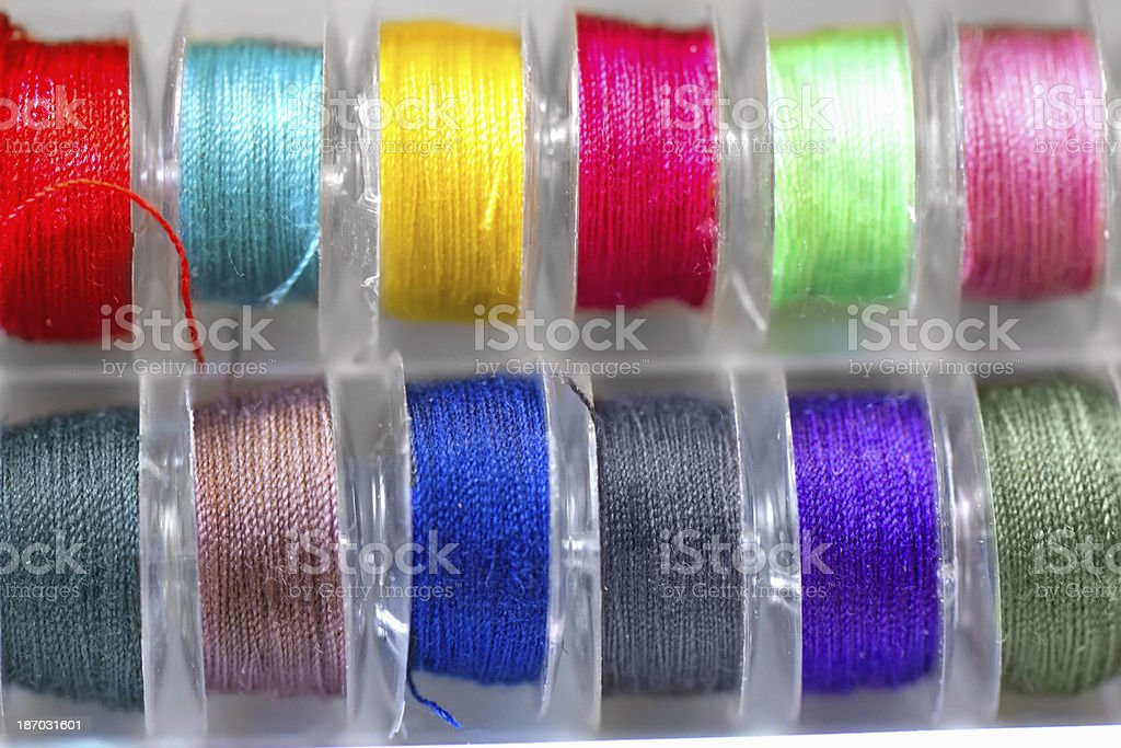 spools of colored thread royalty-free stock photo