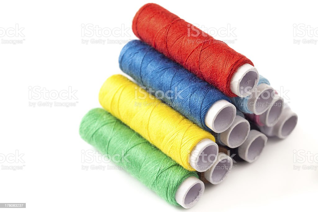 Spools of colourful thread royalty-free stock photo