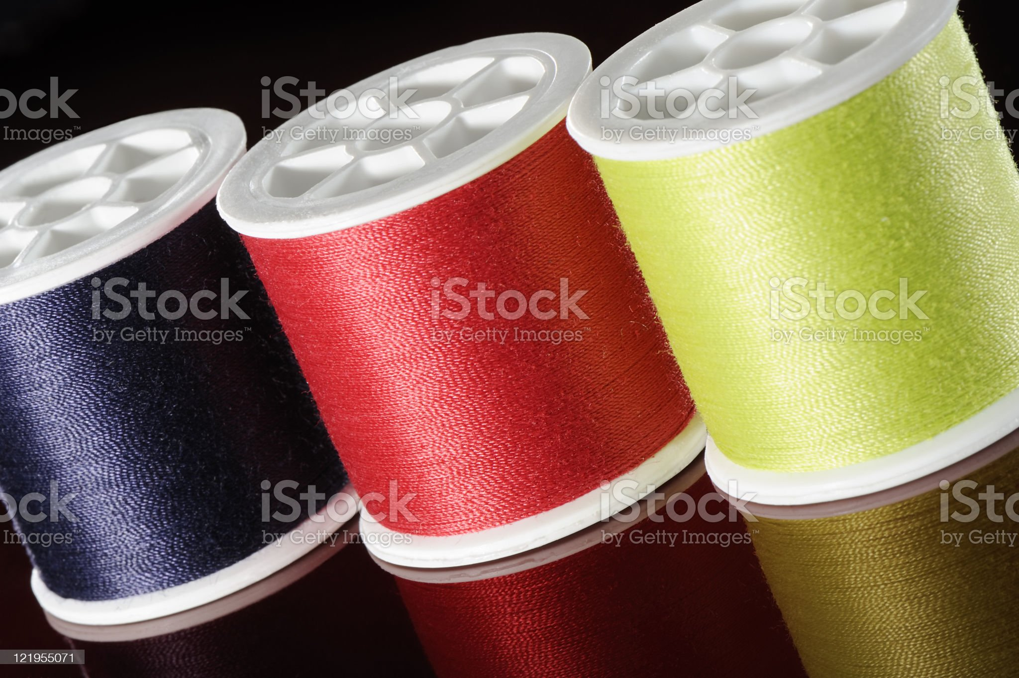 spools of sewing thread royalty-free stock photo