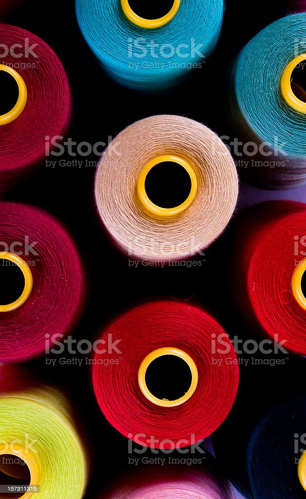 spools of sewing threads royalty-free stock photo