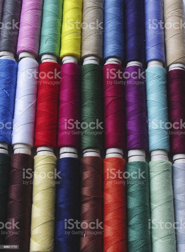 spools of thread background 1 royalty-free stock photo