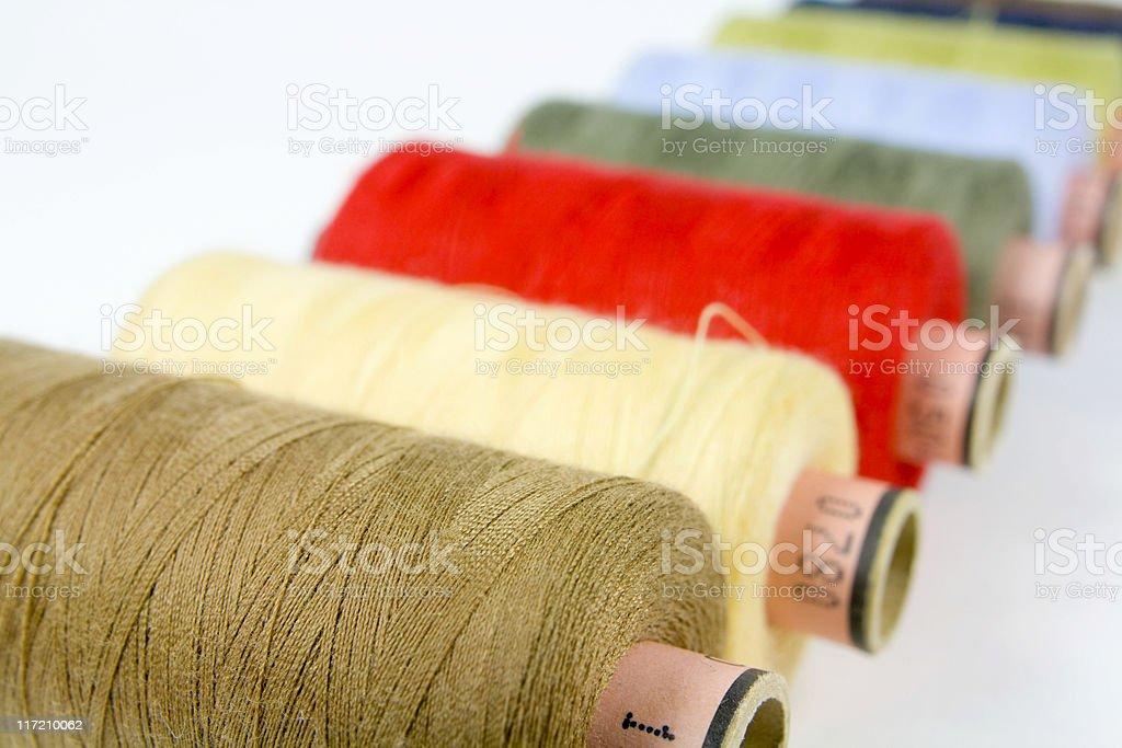 spools of thread, stock photo