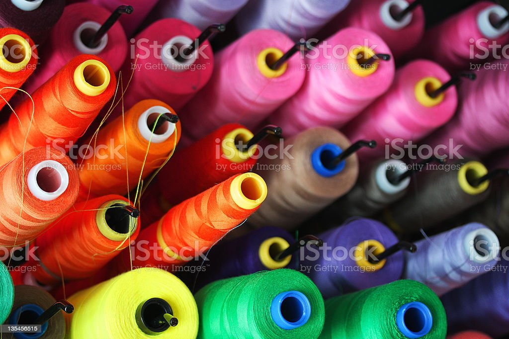 spools of thread stock photo
