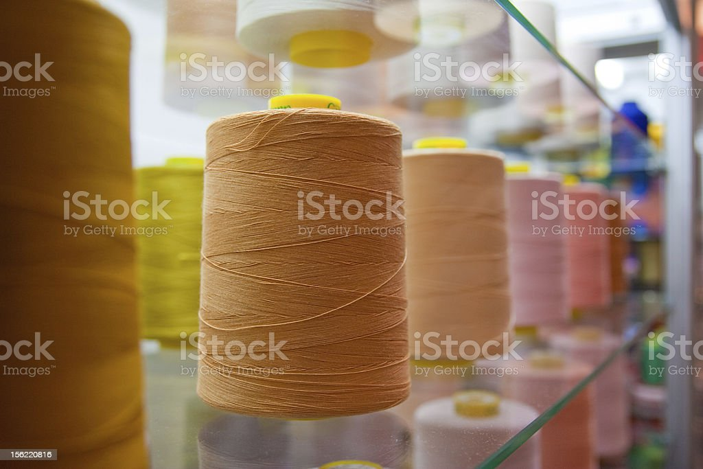 spools of thread royalty-free stock photo