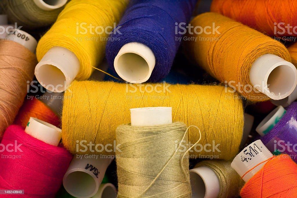 spools of threads stock photo