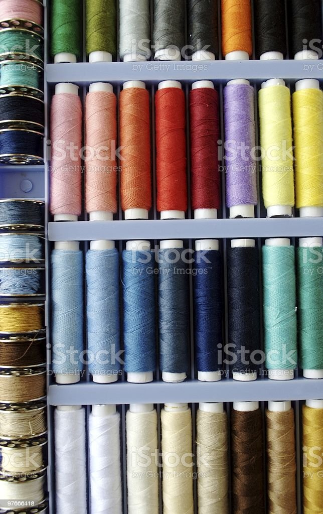 Spools of Threads royalty-free stock photo