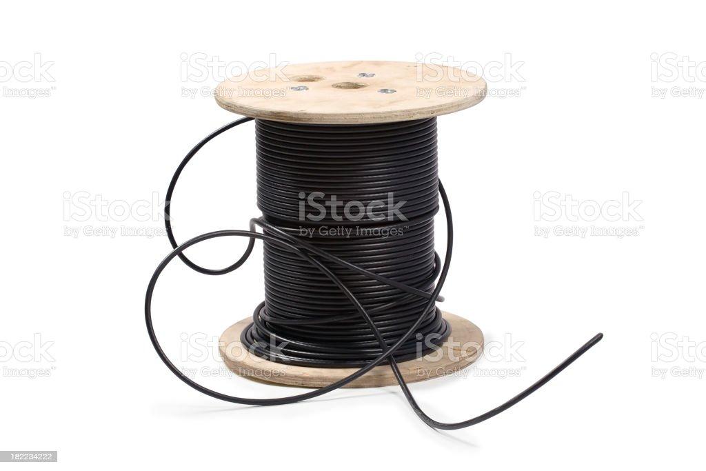 Spools of Wire. stock photo