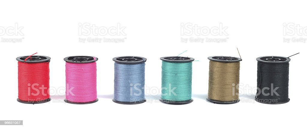 Spools With Threads royalty-free stock photo