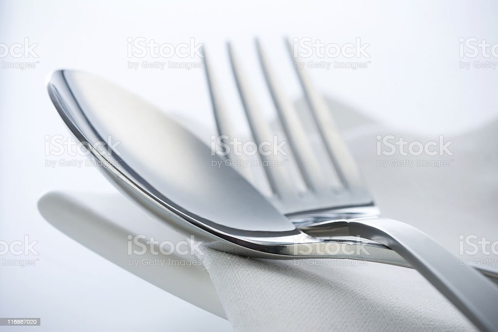 Spoon and fork. stock photo