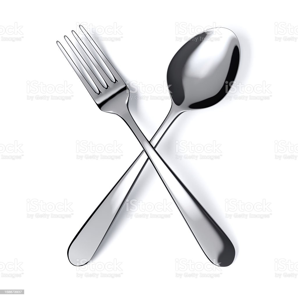 spoon and fork royalty-free stock photo