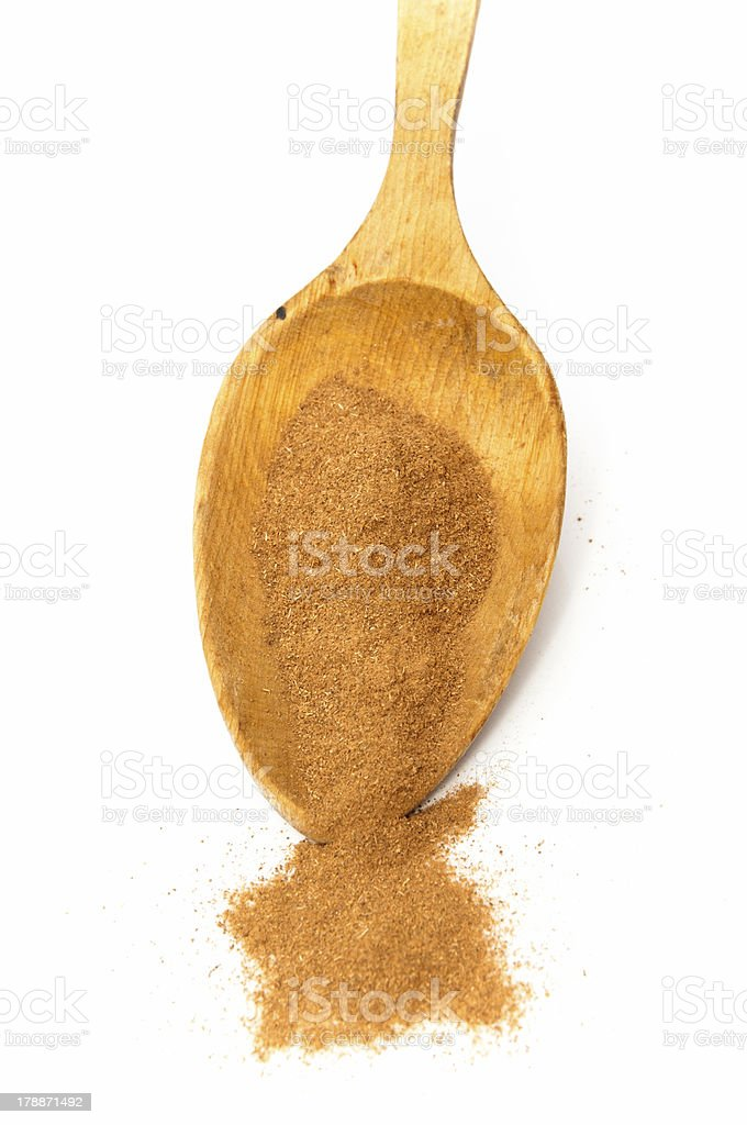 spoon ground pepper royalty-free stock photo