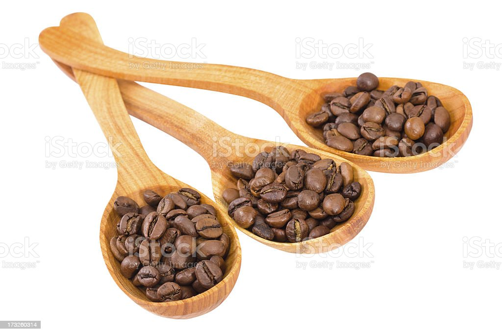spoon with coffee royalty-free stock photo