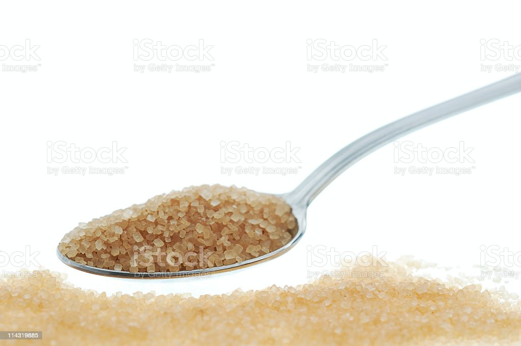 Spoonful of Brown Sugar royalty-free stock photo