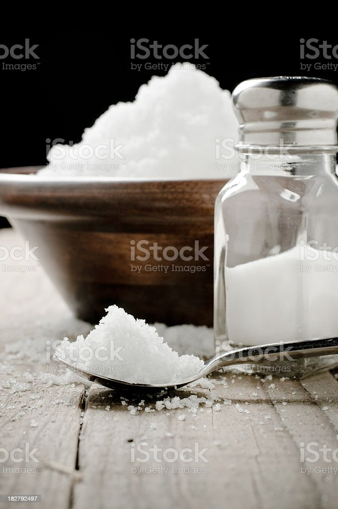 Spoonful of salt royalty-free stock photo