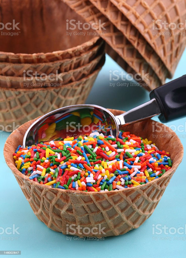 Spoonful of Sprinkles royalty-free stock photo