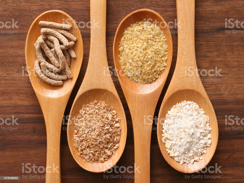 Spoons and fibers stock photo