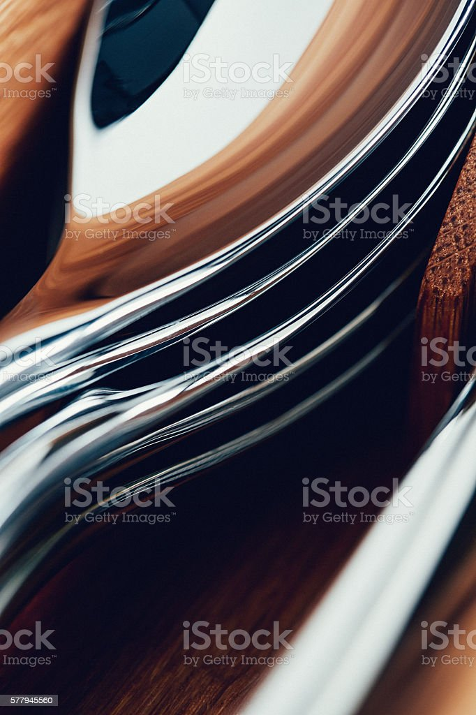 Spoons in wooden box stock photo