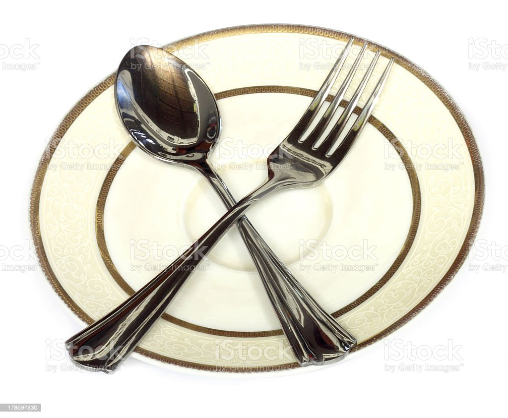 Spoons on a plate royalty-free stock photo