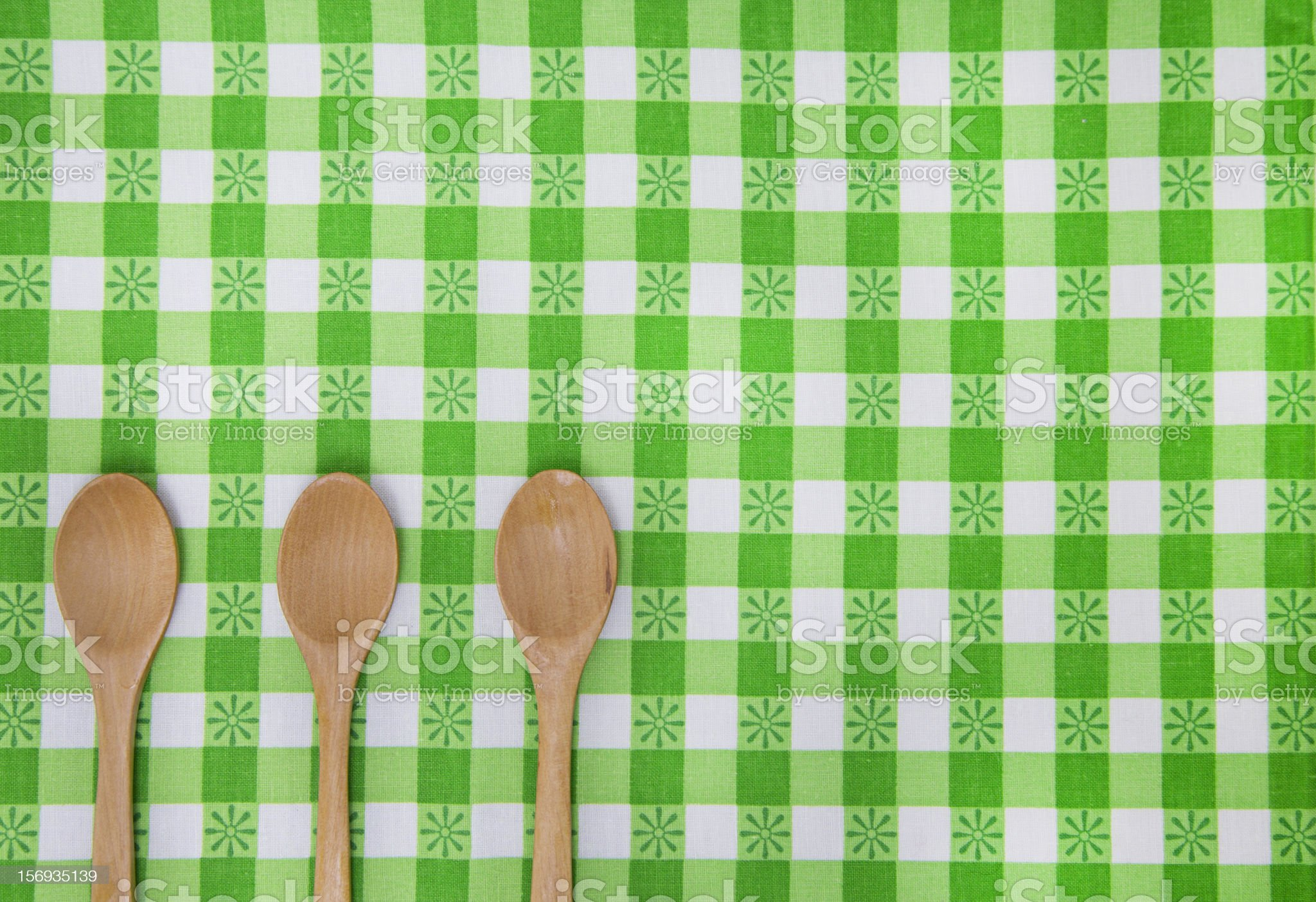 Spoons on table royalty-free stock photo