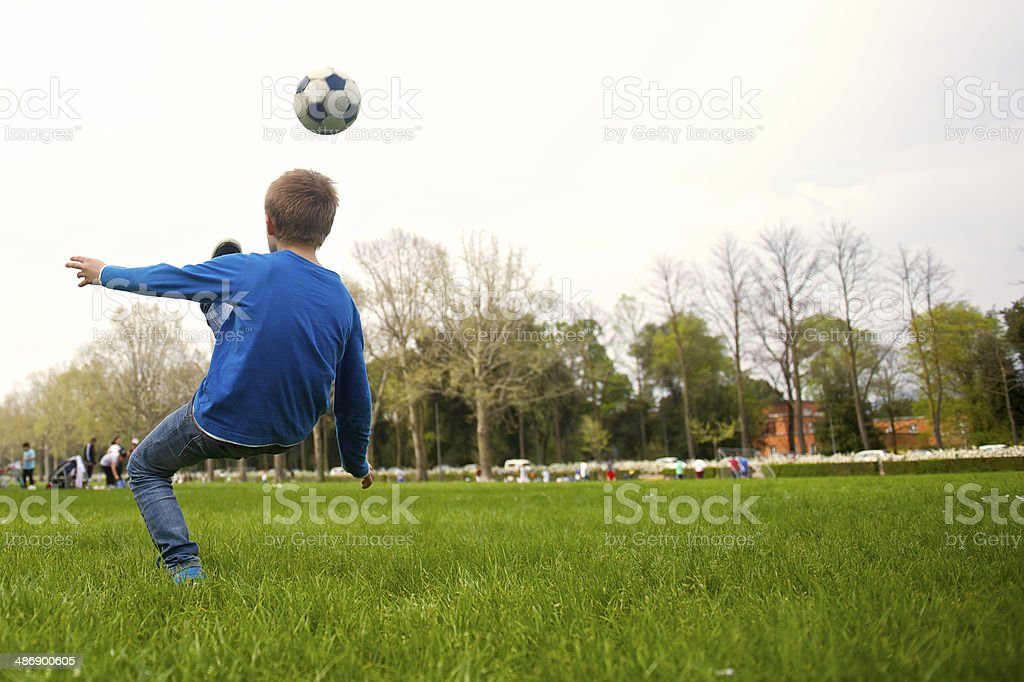 Sport action at the park royalty-free stock photo