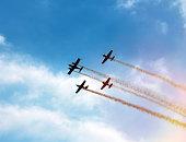 Sport aircraft in air show
