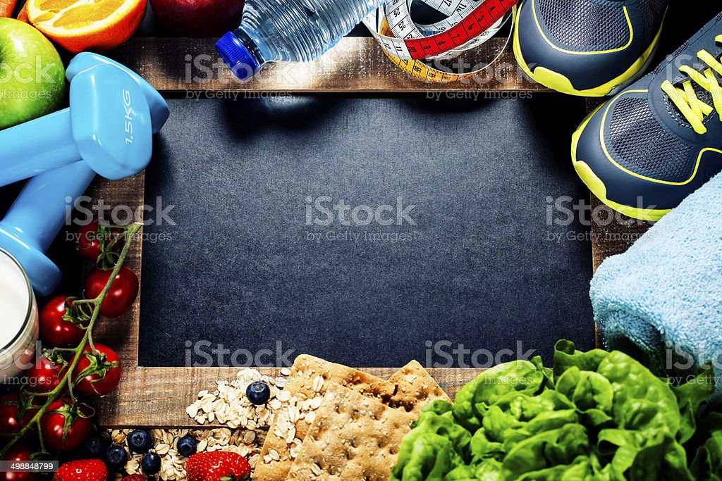 sport and diet frame royalty-free stock photo