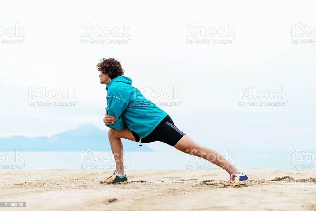 Sport and health at the seaside stock photo