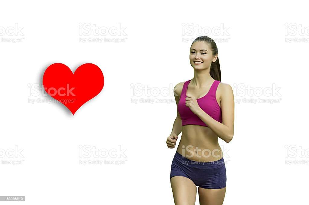 sport and lifestyle concept - woman doing sports outdoors royalty-free stock photo
