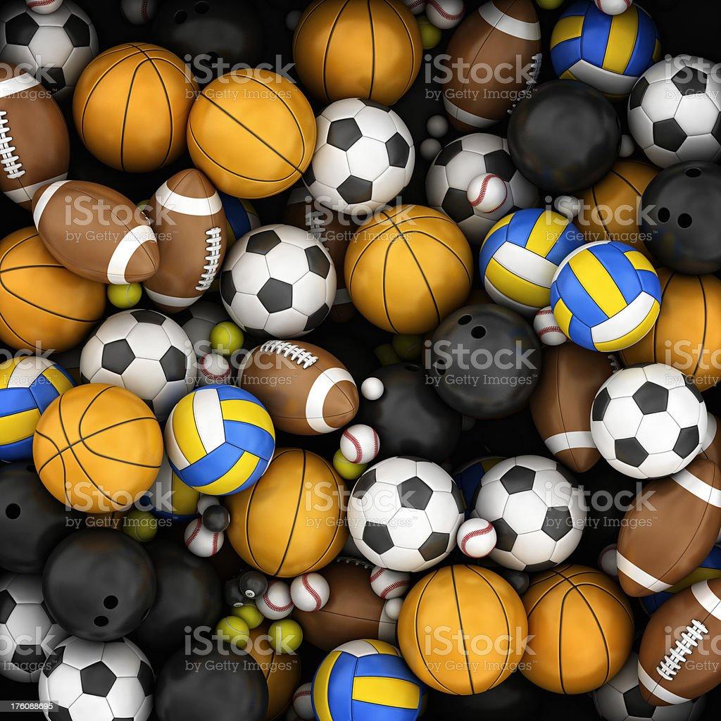 sport balls background royalty-free stock photo