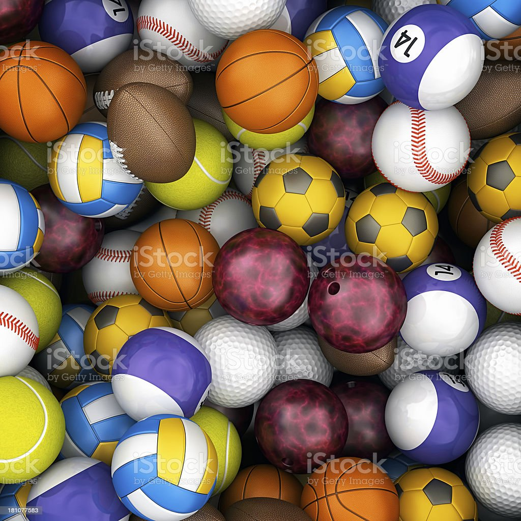 sport balls background royalty-free stock photo