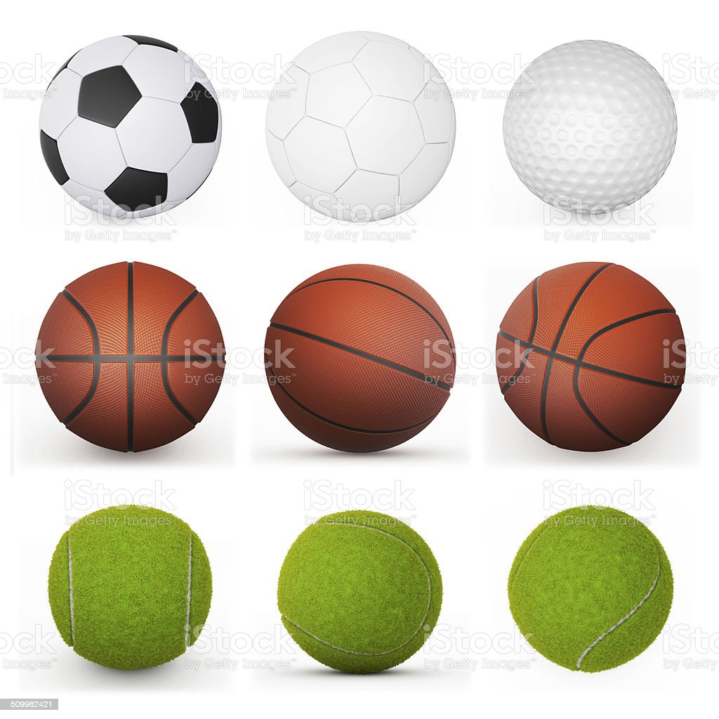 sport balls collection stock photo