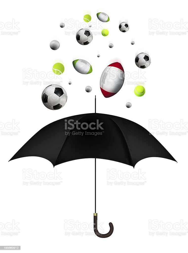 Sport Balls falling stock photo