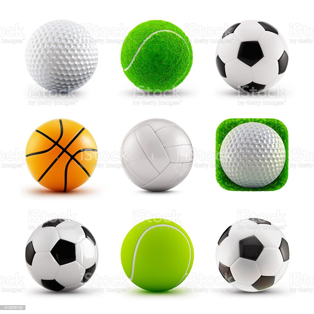 Sport balls icons stock photo
